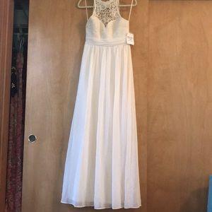 Beige crotchet maxi dress